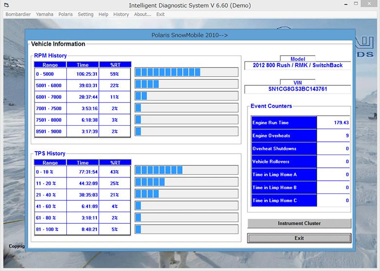 POLARIS 診断画面